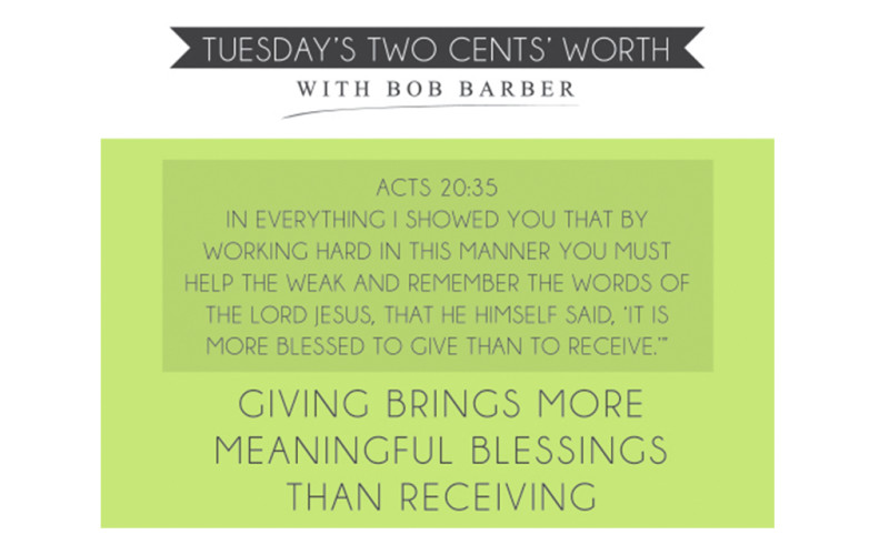 Tuesday's Two Cents