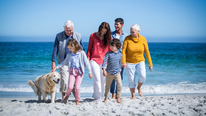 Multigenerational Family on the Beach