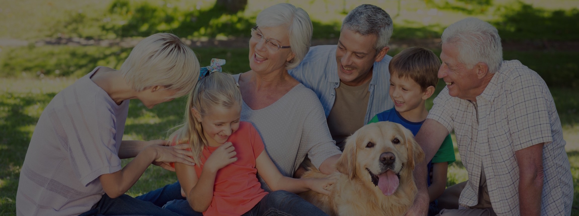 financial planning and wealth management happy family with dog