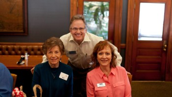 Ladies Valentine Lunch 2015 Bob with wife Rachael and mom, Jean