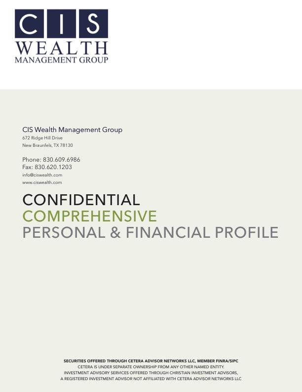 CIS PROSPECTIVE Client Profile COVER