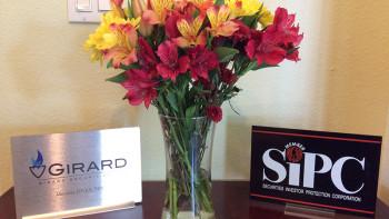 Christian Financial Advisors Fresh Flowers in Reception
