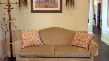 Comfortable Seating in the Christian Financial Advisors Reception Area