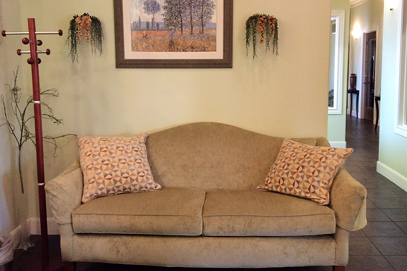 Comfortable Seating in the CIS Wealth Reception Area