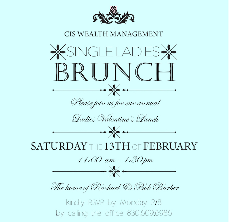 single ladies valentine lunch