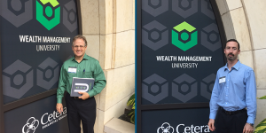 Bob and Nate at wealth management university