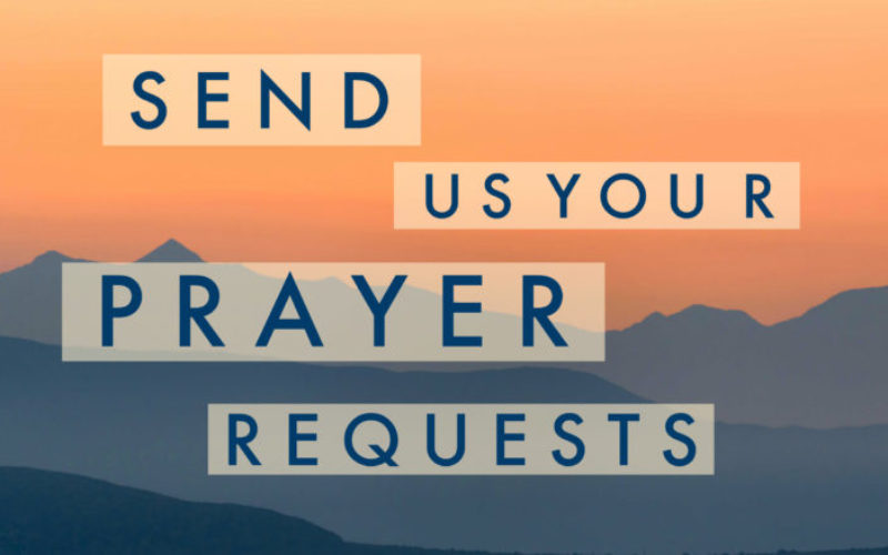 Send Us Your Prayer Requests