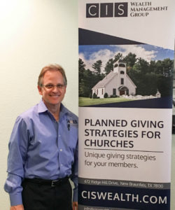 Bob with Planned Giving Banner