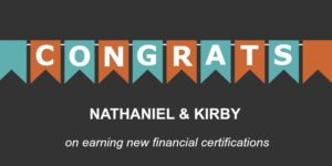 Congrats Nathaniel and Kirby