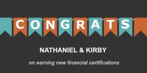 Congrats Nathaniel and Kirby