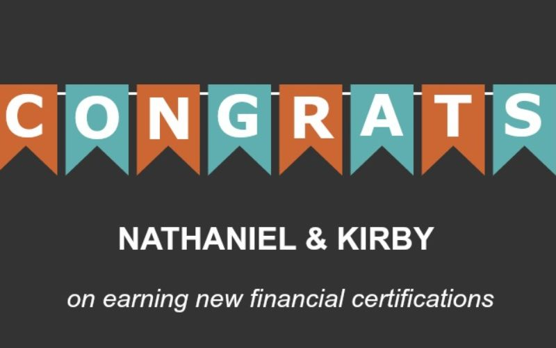 Congratulations Nathaniel and Kirby