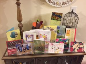 Just a few of the cards she received from friends and family