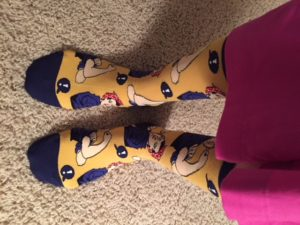 """Everyone needs a pair of """"We Can Do It"""" motivational socks during treatment!"""