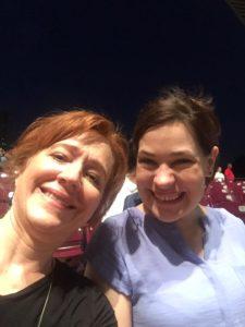Rachael & Kirsten enjoying the Miller Outdoor Theatre