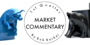 market commentary with bull and bear