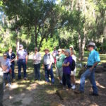 Palmetto outing learning from the park ranger
