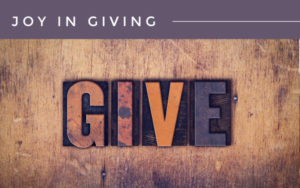 Joy In Giving