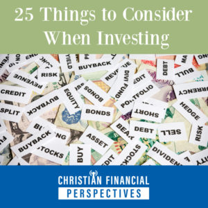 25 Things to Consider When Investing