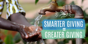 closeup of child's hands under outdoor faucet, Smarter Giving Equals Greater Giving