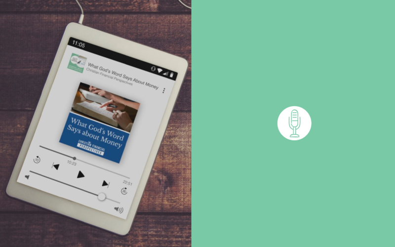 Christian Financial Perspectives Podcast playing on iPad