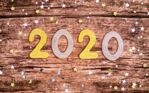 2020 on wood background The Year It Gets Done