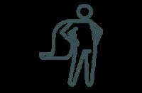 superhero cape icon on transparent background