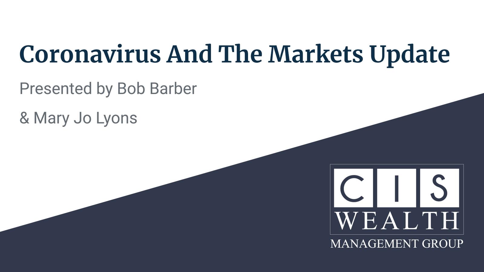 Coronavirus and markets update presentation slide cover