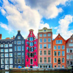 Colorful Amsterdam buildings