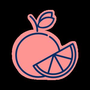 cartoon fruit orange