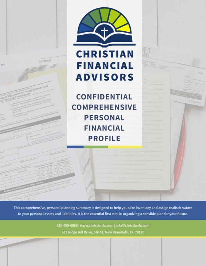 ChristianFA PROSPECTIVE Client Profile COVER